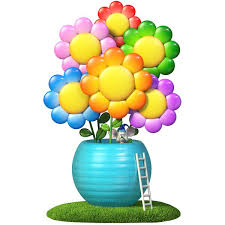 Zoomie Kids Trees Flowers Flower Pot With Mouse Wall Decal Wayfair