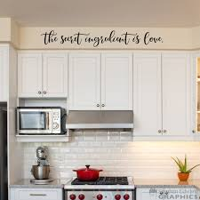 The Secret Ingredient Is Love Decal Kitchen Wall Art Decor Etsy