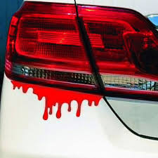 1984393245 Dsycar 1set Red Blood Car Stickers Horror Car Decals Bumper Body Sticker Decal Adhesive Sticker Car Styling Accessories Automobiles Motorcycles Exterior Accessories