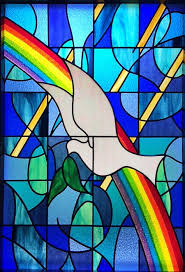 dove stained glass window church of