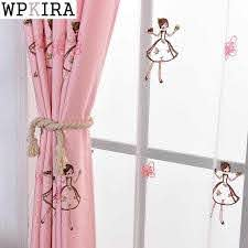 Pink Princess Cartoon Curtains For Living Room Children Embroidery Butterfly Blackout Curtains For Baby Girls Bedroom Zh011 30 Curtains For Cartoon Curtainsblackout Curtains Aliexpress
