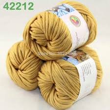 LOT of 3 Balls X 50g Special Thick Worsted Cotton Knitting Yarn ...