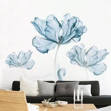 Blue Floral Wall Decals Embla