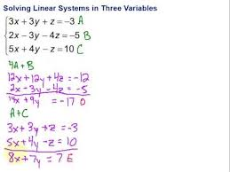 solving linear systems in three
