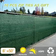 Jaxpety Dark Green 6 X50 Fence Windscreen Privacy Screen Shade Cover Fabric Mesh Garden Tarp Walmart Com Walmart Com