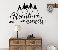 Arrow Wall Decal Playroom Wall Decal Mountain Wall Decal Etsy Nursery Wall Decals Playroom Wall Decals Mountain Wall Decal