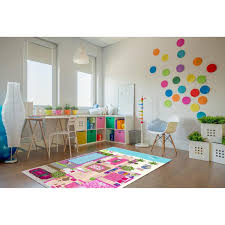 Shop La Dole Rugs Pink Turquoise Blue Barbie Doll House Area Rug Mat For Kids Childrens Room Decoration Playroom 5x7 8x10 7x9 Feet Overstock 29352035