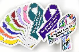 Ribbon Awareness Decals Medium Choose Hope