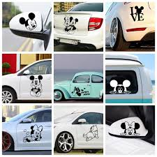 Colorful Mickey Mouse Car Stickers Garfield Auto Both Body Decal Funny Wrap Vinyl Film Automobiles Decals For Cars Decoration Leather Bag