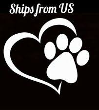 Paw Print Stickers Products For Sale Ebay