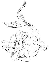 Ariel Kleine Zeemeermin Kleurplaat Google Zoeken Disney