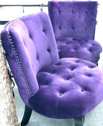 purple leather accent chair