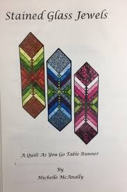 stained glass jewels table runner