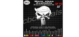 Trump Punisher Skull Truck Vinyl Decal Sticker Country Boy Customs Store