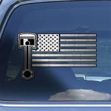 American Flag Muscle Car Decal Sticker Usa Flag Classic Car Window Decal Sticker Ebay