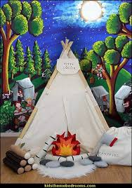 Boy Scout Camp Mural Outdoor Theme Bedroom Ideas Camping Theme Bedroom Decor Backyard Themed Outdoor Themed Bedroom Themed Kids Room Camping Theme Bedroom