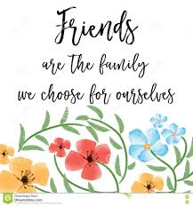 beautiful friendship quote floral watercolor background stock