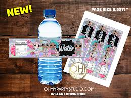 LOL DOLLS WATER LABELS INSTANT DOWNLOAD ...