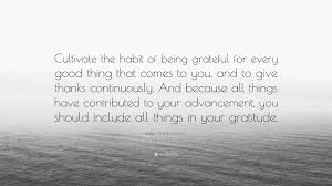 "ralph waldo emerson quote ""cultivate the habit of being grateful"