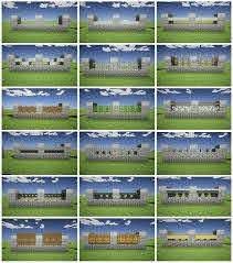Minecraft Fence Design Minecraft Blueprints Minecraft City Minecraft Designs