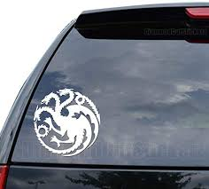 Amazon Com House Targaryen Game Of Thrones Decal Sticker Car Truck Motorcycle Window Ipad Laptop Wall Decor Size 05 Inch 13 Cm Wide Color Gloss Red