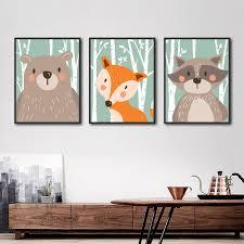 Fox Art Boy Room Decor Boy Nursery Art Forest Wall Art 8x10 Modern Animal Print Kid