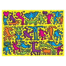 2-in-1 Keith Haring Double-Sided Puzzle ...