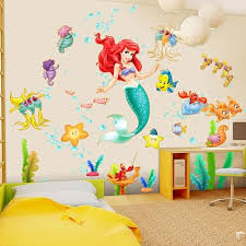 Disney The Little Mermaid Wall Decal Little Mermaid Room Little Mermaid Bedroom Mermaid Wall Decals