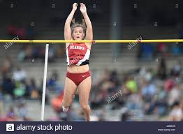 April 27, 2017 Oklahoma's Meagan Gray clears 4.10 meters and falls Stock  Photo - Alamy