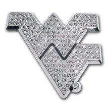 West Virginia Mountaineers Premium Chrome Metal Auto Emblem With Crystals Car Emblem Chrome Cars West Virginia