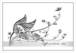 Afdrukbare Kleurplaten Voor Volwassenen Henna Doodle Bloem Etsy