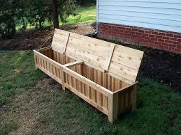 patio storage bench white outdoor seat