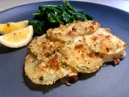 Oven Baked Halibut with Rosemary Potatoes