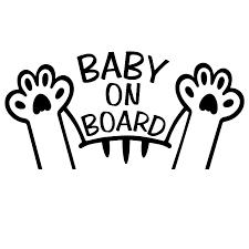 Cats Baby On Board Vinyl Car Sticker Decal Funny Cute Unique Cat Fashion Bumper Sticker Waterproof Ta045 Car Stickers Aliexpress