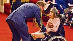 MBE for paralysed violinist Rosemary Johnson who uses brainwaves ...