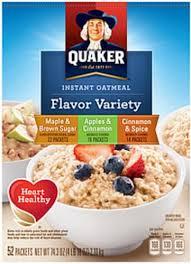 quaker oatmeal maple brown sugar