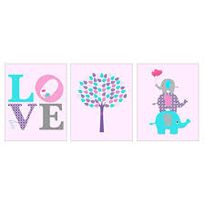 Cute Love Elephant Kids Room Decor For Girls Room Or Nursery 8 Inches By 10 Inches Walmart Canada