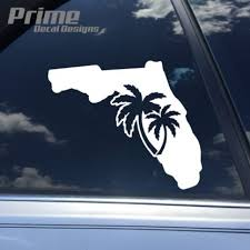 Florida State Outline Palm Tree Decal Car Window Vinyl Sticker