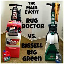 carpet cleaner bissell vs rug doctor