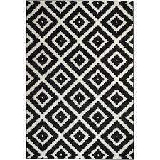 leana geometric black white area rug