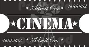 Cinema Ticket Decal Prime Decals