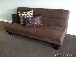 futon sofa sleeper dark brown new 1