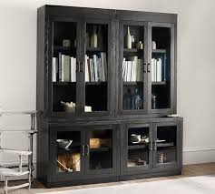 reynolds glass door bookcase pottery barn