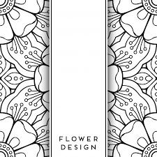 black and white fl design free vector