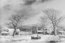 Grijswaarden Huis Paard En Sneeuw Grijswaarden Kleurplaat Etsy