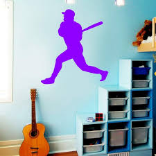 Vwaq Baseball Wall Decals For Boys Room Sports Vinyl Stickers Decor Walmart Com Walmart Com