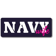 Navy Wife Magnet 3x8 Navy Blue Pink And White Decal Perfect For Car Or Truck Walmart Com Walmart Com