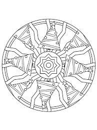 Kerstmis Mandala Kerstbomen Kleurplaat Kerstmis Kleuren Mandala