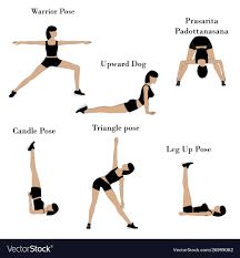 yoga exercises workout royalty free