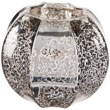 fluted mercury glass tea light candle